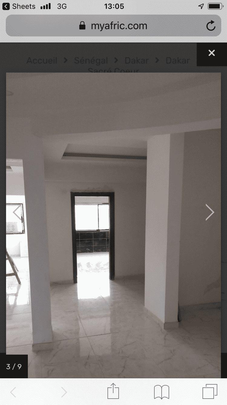 Appartement à louer Dakar Sacré coeur