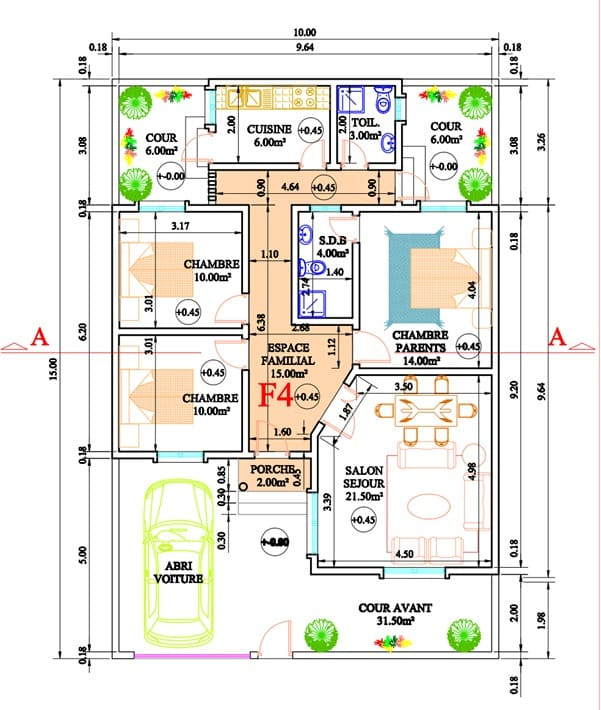 Villa de type F4 à vendre à Keur Massar Extension