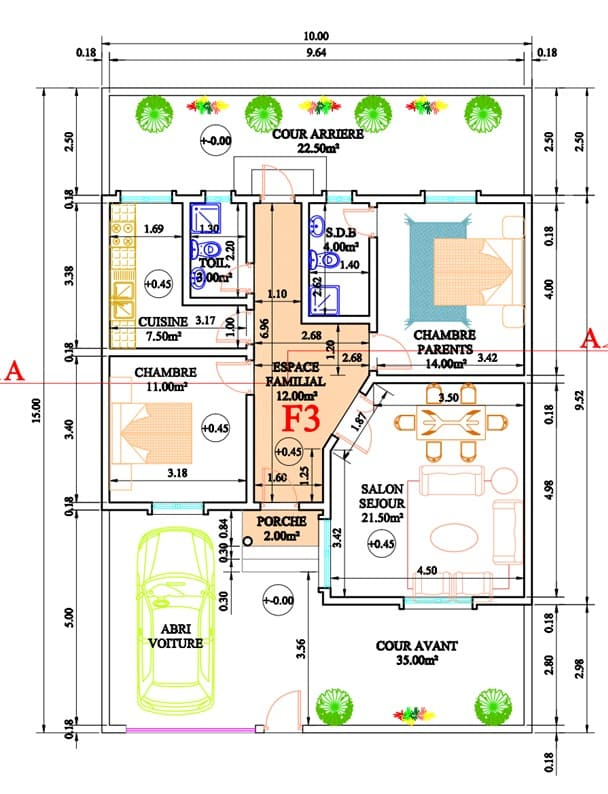 Villa F3 à vendre à Keur Massar Extension